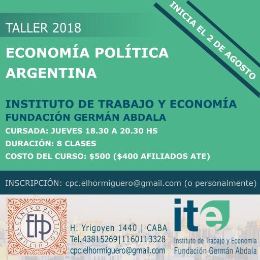 Taller de Economía Política Argentina 2018
