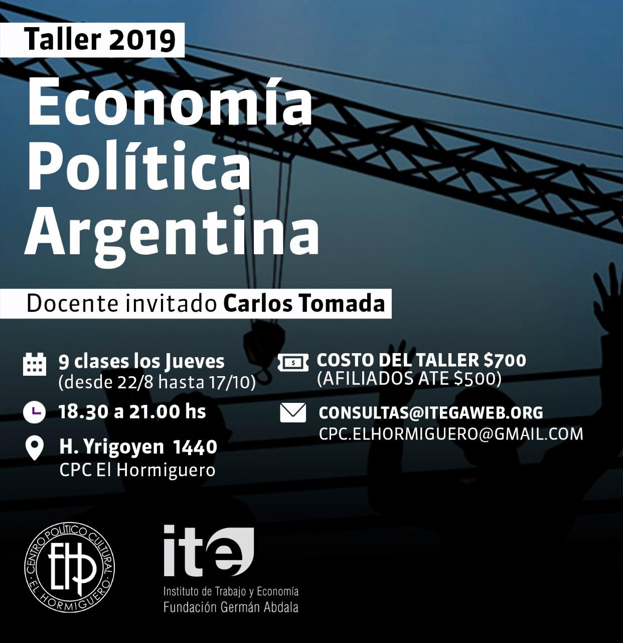 Taller de Economía Política Argentina 2019